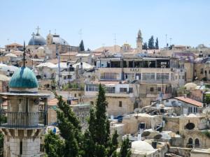 Blick auf Teile des muslimischen Viertels der Jerusalemer Altstadt